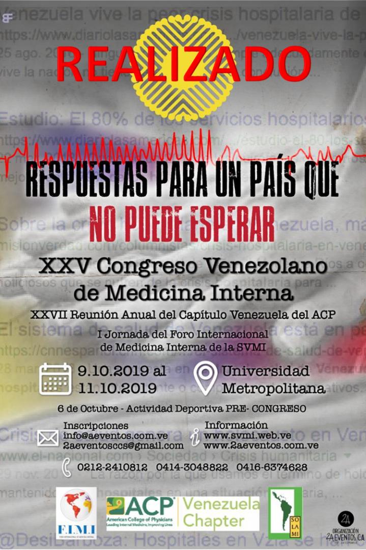 XXV Congreso de la Sociedad Venezolana de Medicina Interna